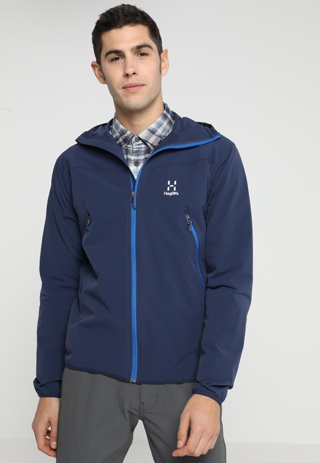 NATRIX HOOD MEN - Soft shell jacket - tarn blue/storm blue