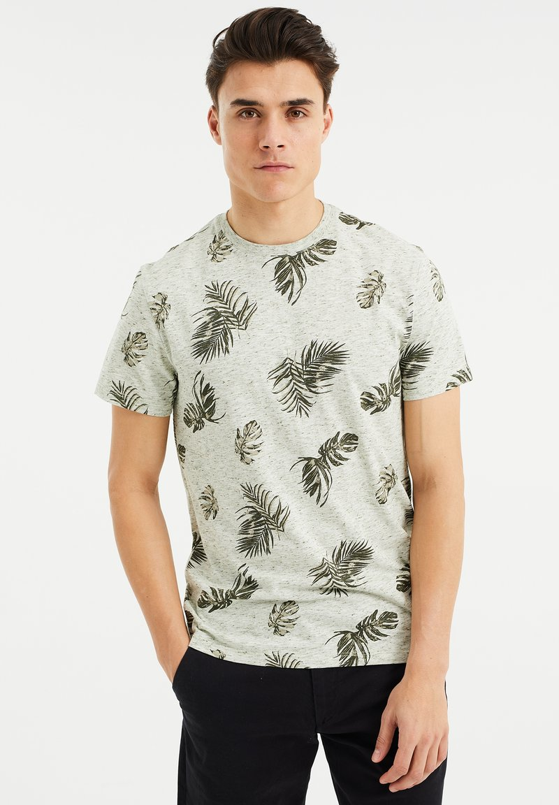 WE Fashion - Print T-shirt - green