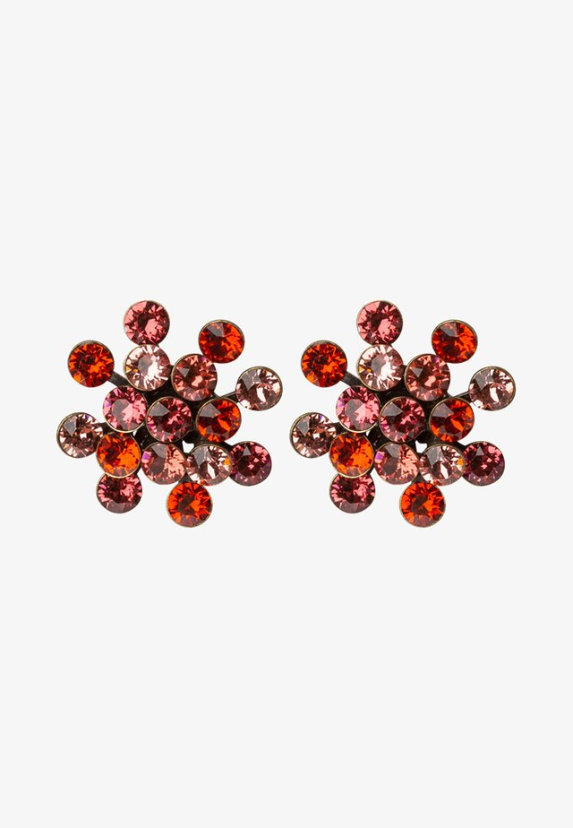 MAGIC FIREBALL - Pendientes - coralline/orange antique