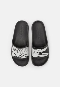 Lacoste - CROCO - Badslippers - black/white - 3