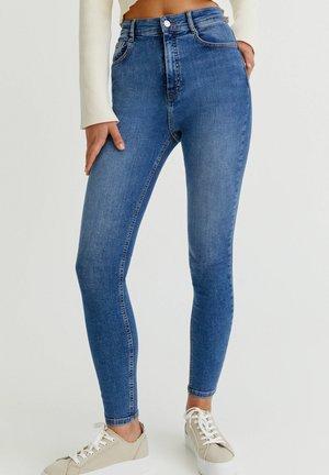 WITH VERY HIGH WAIST - Jeansy Skinny Fit - blue denim