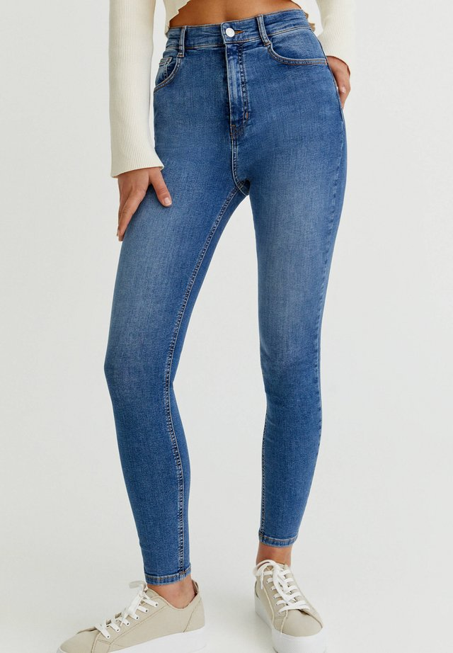 WITH VERY HIGH WAIST - Jeans Skinny Fit - blue denim