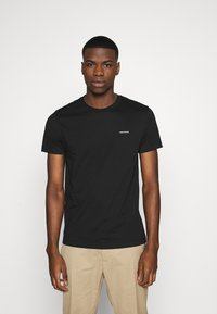 Calvin Klein Jeans - TEE 3 PACK  - T-shirt basic - black/ black/ white