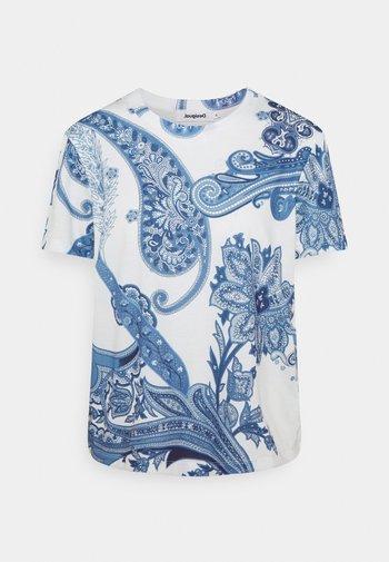 POPASLEY - Print T-shirt - blue