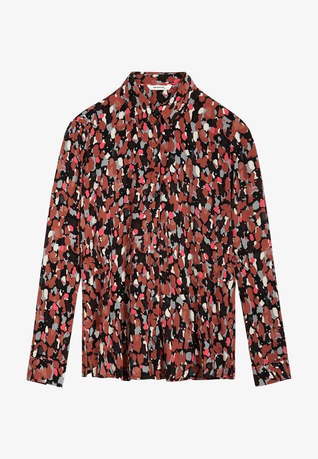 Button-down blouse - braun