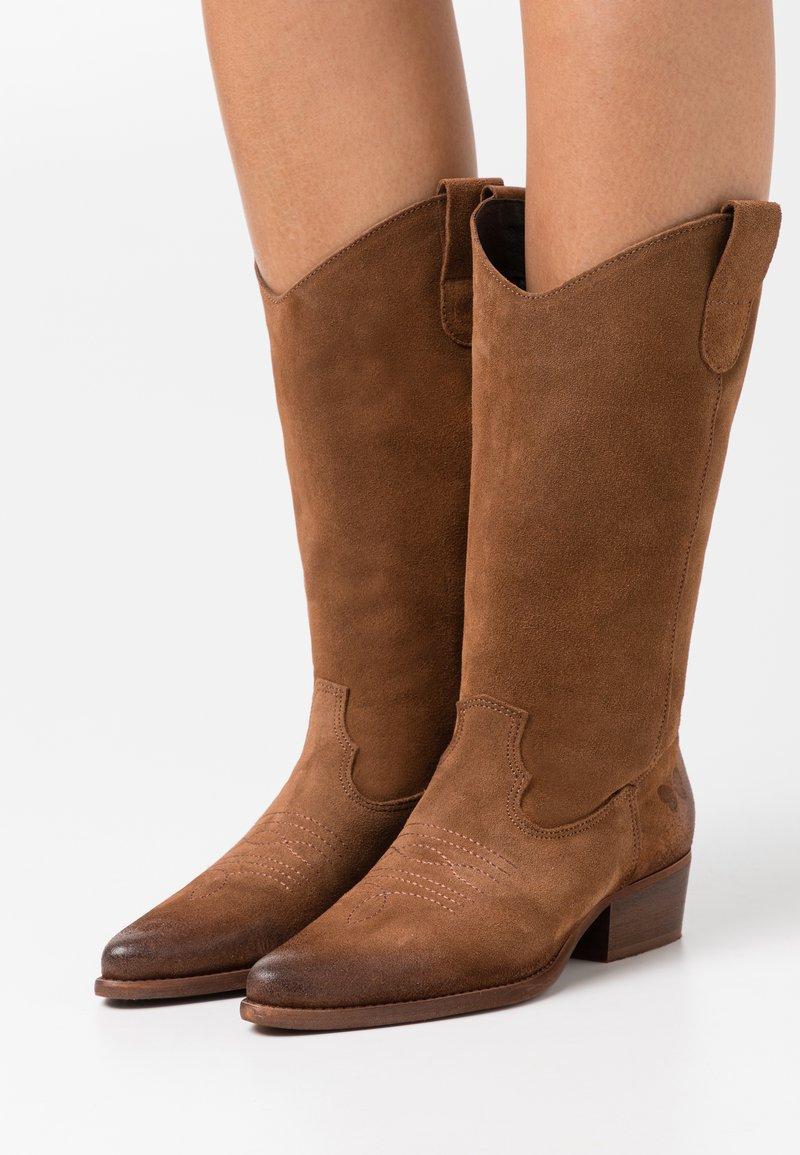 Felmini - WEST - Cowboy/Biker boots - marvin brown/vintage oiled