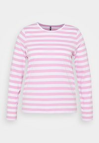 Pieces Curve - PCRIA NEW TEE - Long sleeved top - bright white/pastel lavender - 5
