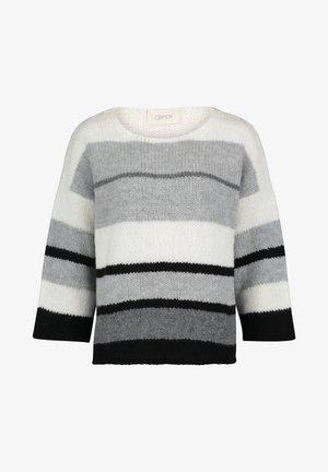 Pullover - gris/noir