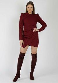 MiaZAYA - Shift dress - bordeaux - 0