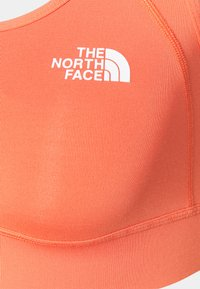 The North Face - BOUNCE BE GONE BRA - Medium support sports bra - emberglow orange/white - 2