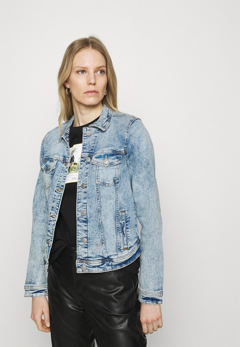 edc by Esprit - JACKET - Denim jacket - blue denim