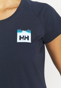 Helly Hansen - NORD GRAPHIC DROP - Print T-shirt - navy - 4