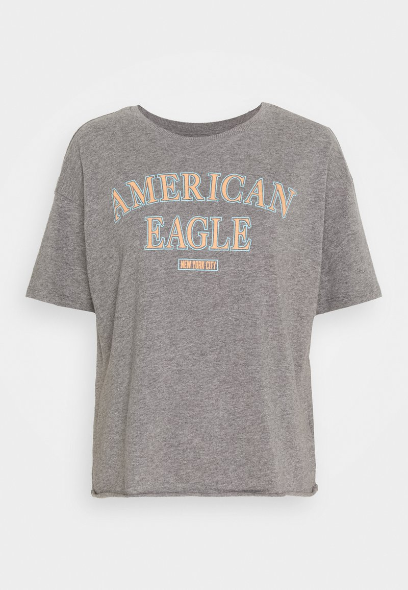 American Eagle - BRANDED BRIGHTS SANTA MONICA TEE - Print T-shirt - heather gray
