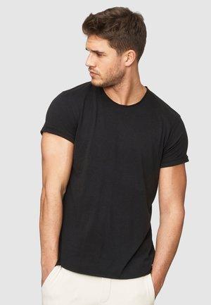 HUGON - Basic T-shirt - black