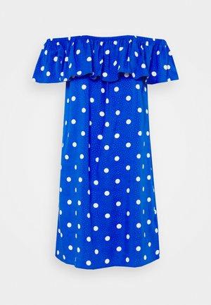 TEXTURED WOVEN BARDOT BEACH DRESS - Accessorio da spiaggia - blue/white