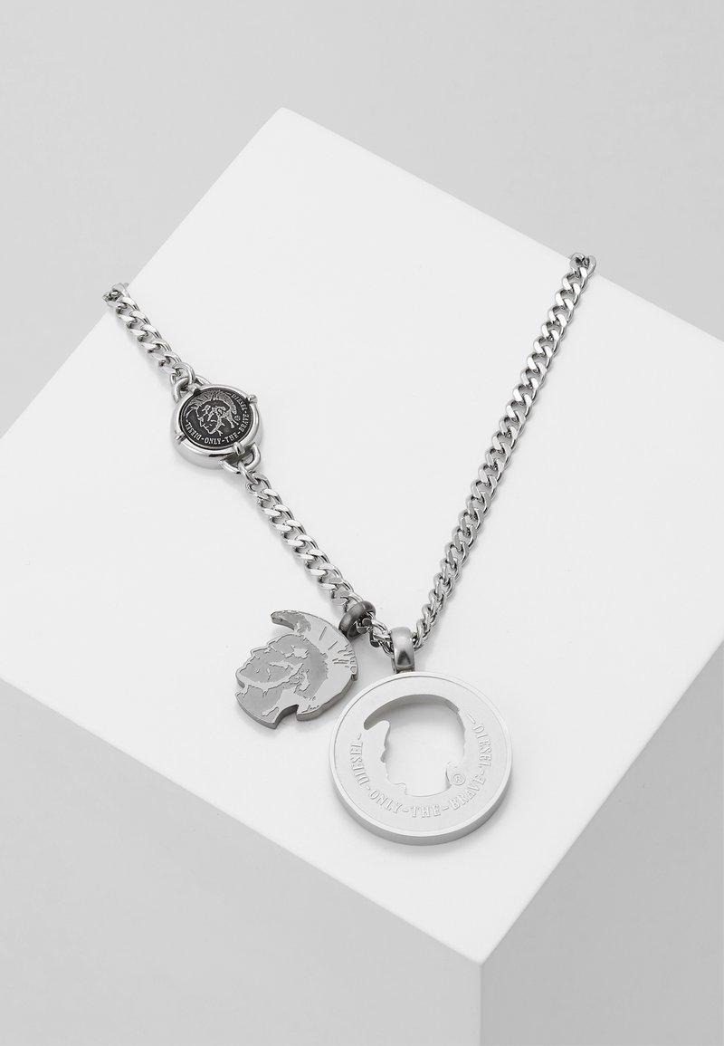 Diesel - DOUBLE PENDANT - Necklace - silver-coloured