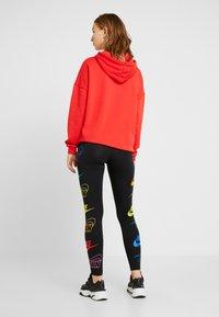 Nike Sportswear - LEGASEE FLIP - Leggings - black/racer blue - 2