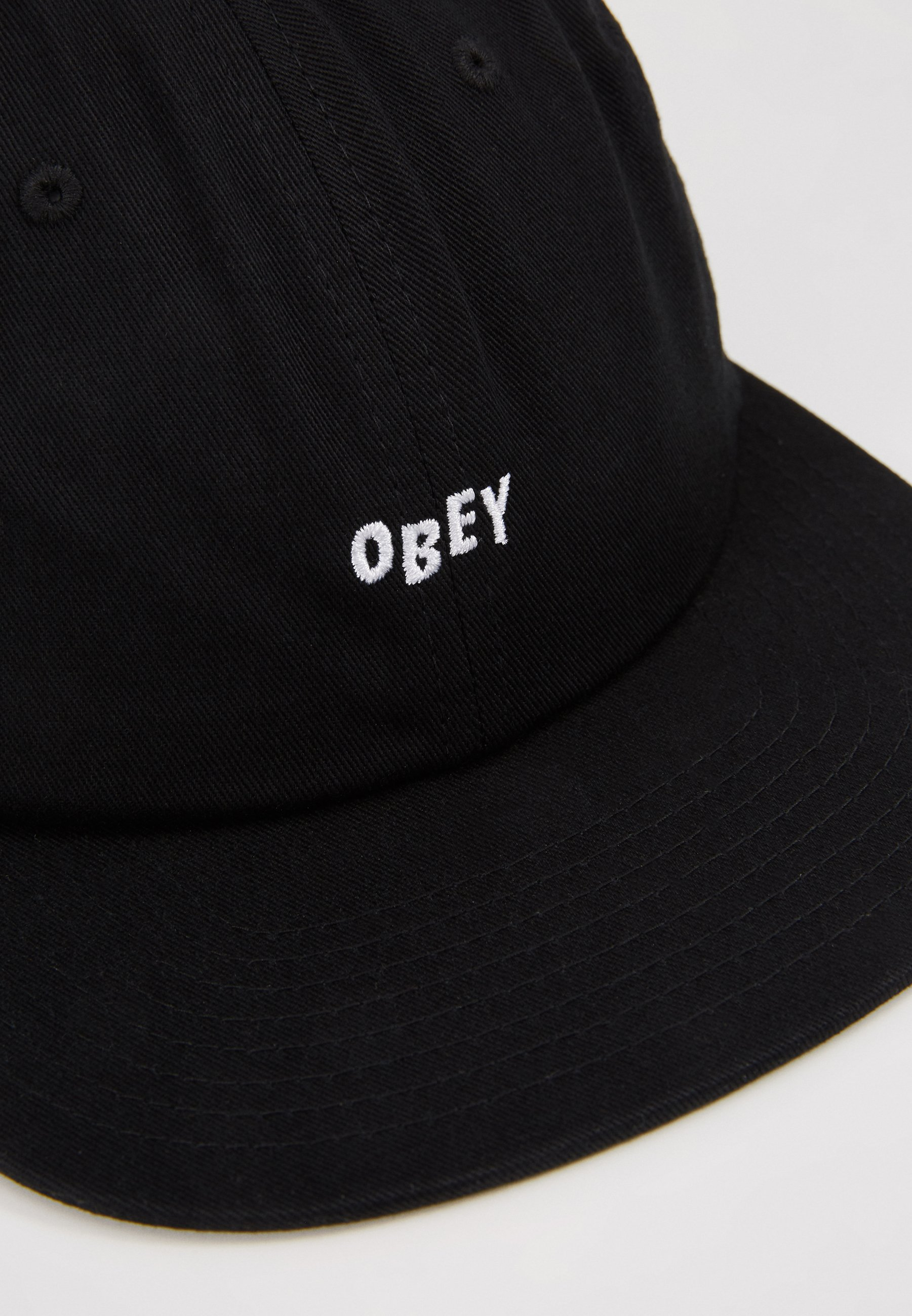 Obey Clothing JUMBLED 6 PANEL STRAPBACK - Cap - black/svart FXWwEwowjwbtTSE