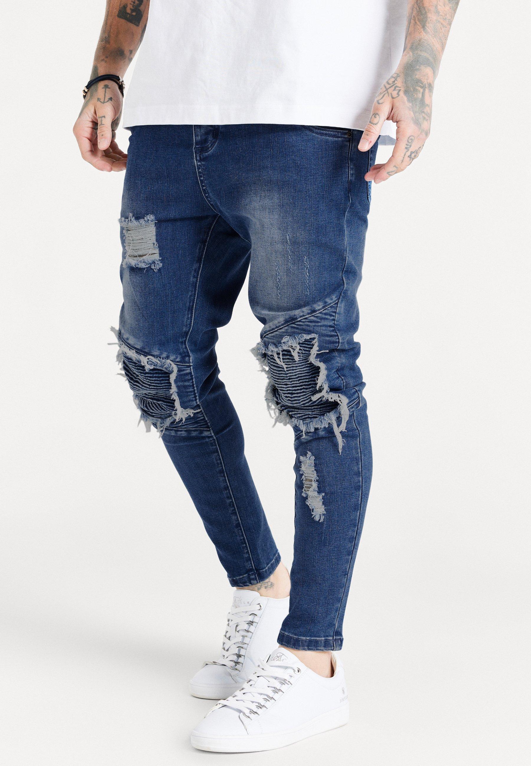 Herren RAW HEM BIKER - Jeans Skinny Fit