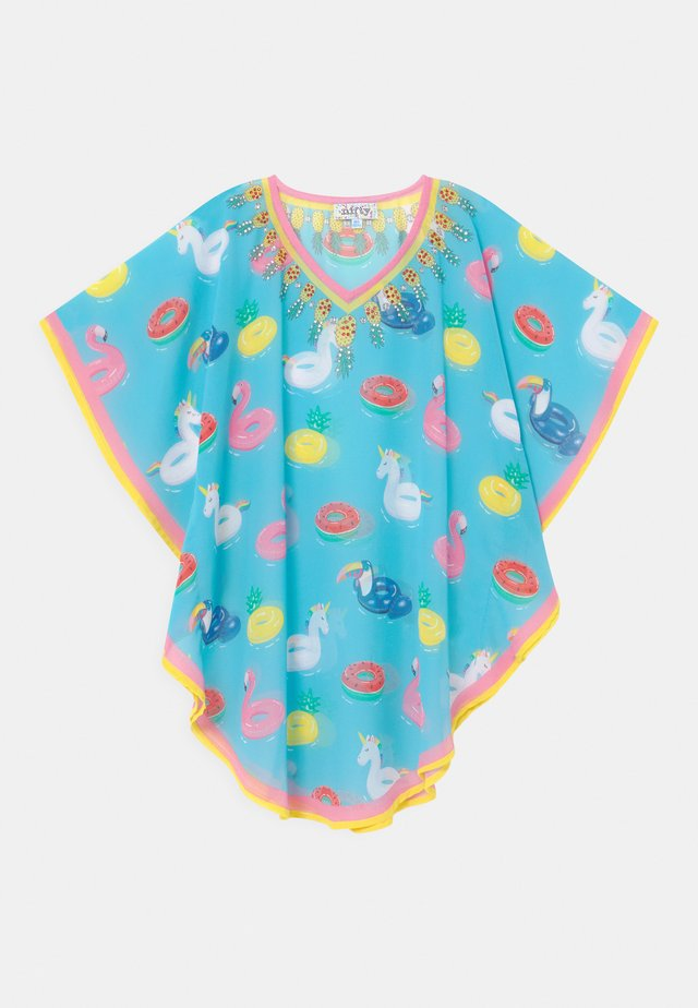 GIRLS PRINTED KAFTAN - T-Shirt print - light blue