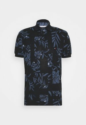 PATCHWORK FLOWER PRINT - Polo shirt - night blue/multi
