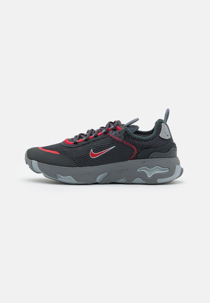 Nike Sportswear - REACT LIVE UNISEX - Trainers - dark smoke grey/university red/smoke grey/light smoke grey