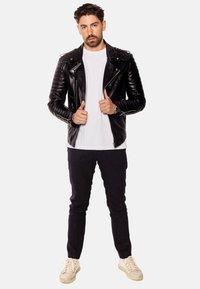 LEATHER HYPE - JORDAN PERFECTO - Leather jacket - black - 5