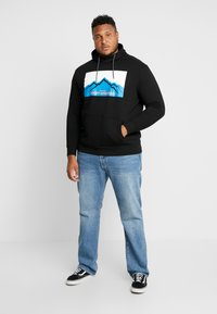 TOM TAILOR MEN PLUS - HOODY WITH PRINT - Sweat à capuche - black