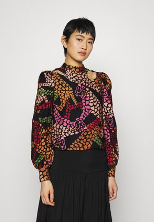 LEOPARD CUTOUT BLOUSE - Bluse - multi-coloured
