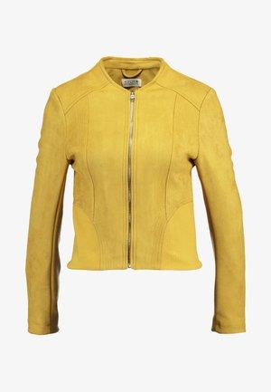 LADIES JACKET - Bunda zumělé kůže - saffron yellow