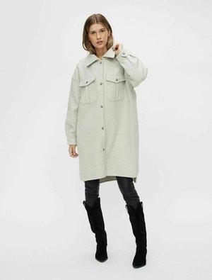 MANTEL - Short coat - light grey melange