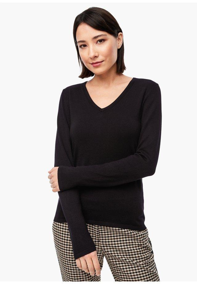 FEINSTRICK-PULLOVER - Sweatshirt - black