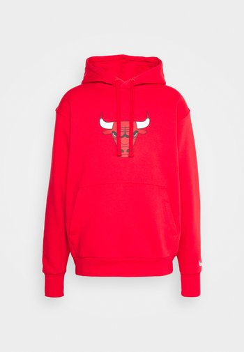 NBA CHICAGO BULLS ESSENTIAL LOGO HOODIE - Felpa con cappuccio - university red