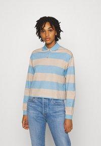 Monki - Long sleeved top - blue light/beige light - 0