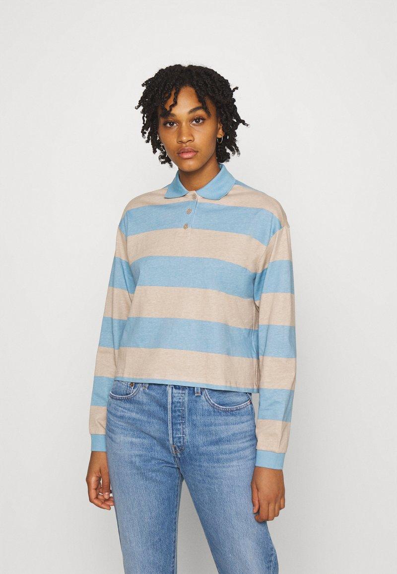 Monki - Long sleeved top - blue light/beige light