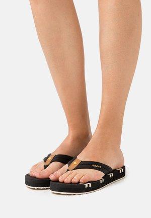 LEMONBEACH  - T-bar sandals - black