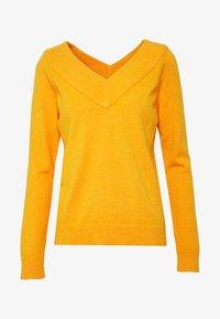 Vila - VIRIL V NECK  - Sweter - orange - 4