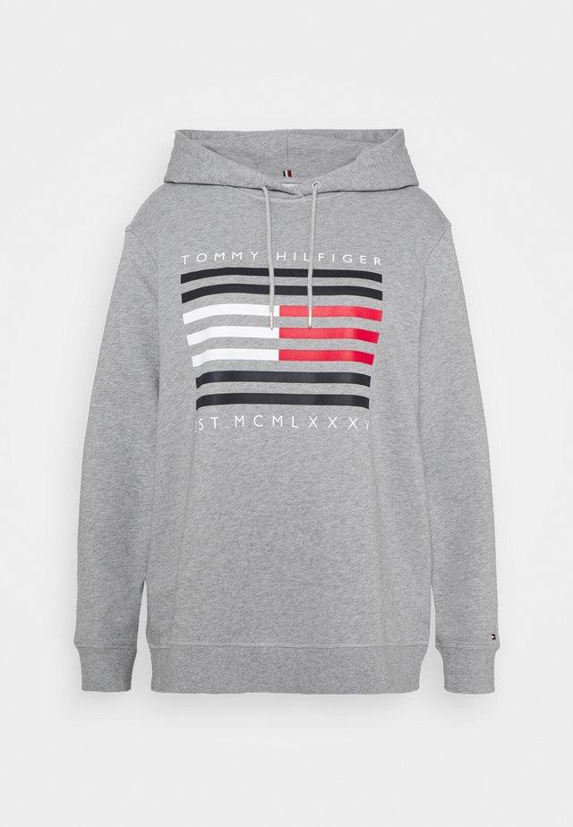 REGULAR FLAG HOODIE - Sweat à capuche - light grey