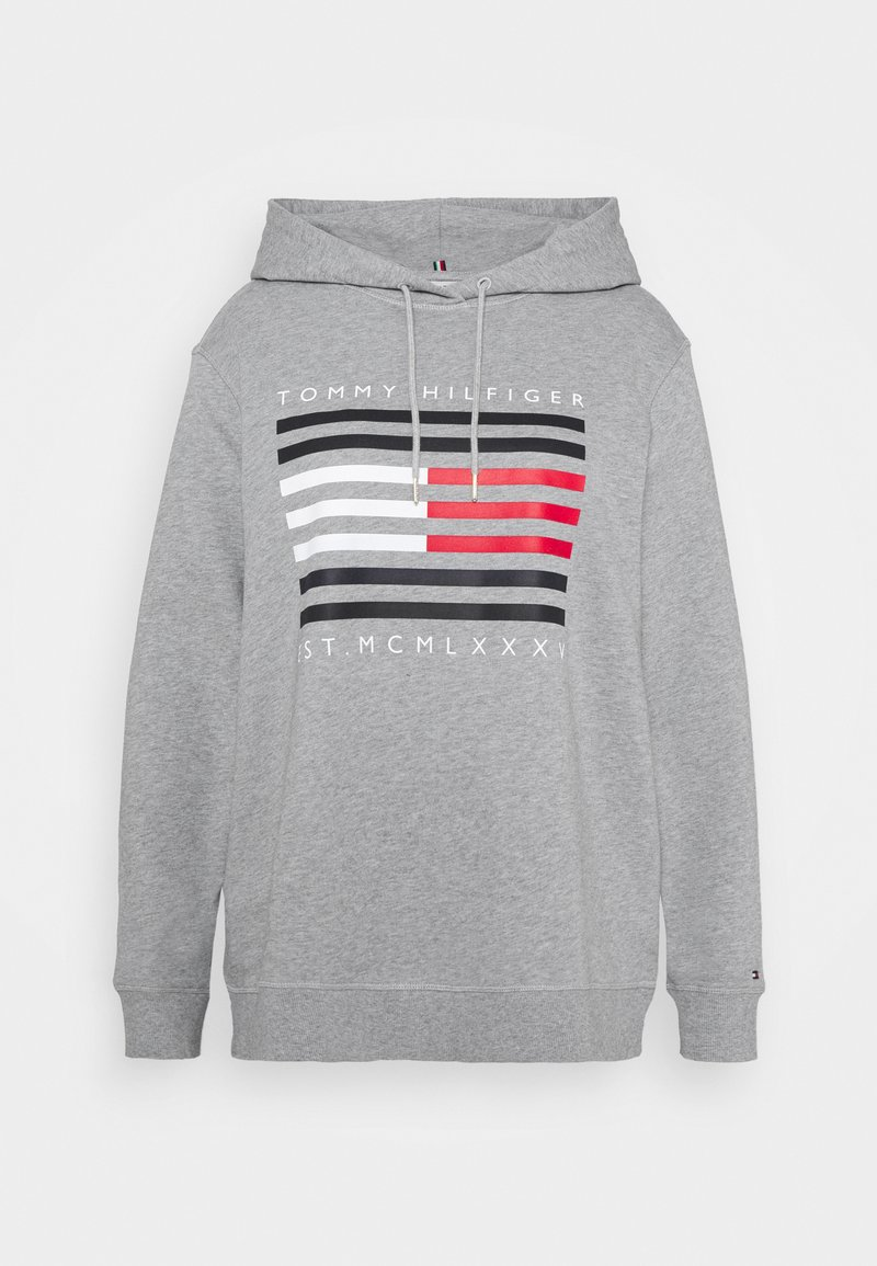 Tommy Hilfiger Curve - REGULAR FLAG HOODIE - Sweat à capuche - light grey