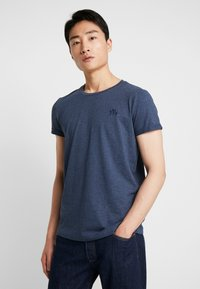 TOM TAILOR DENIM - 2 PACK - T-shirt - bas - agate stone/blue melange - 0