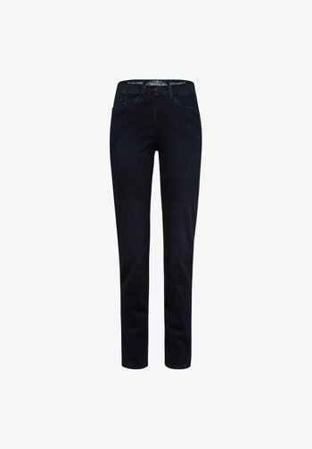 STYLE LAURA SLASH - Slim fit jeans - dark blue mit effekt