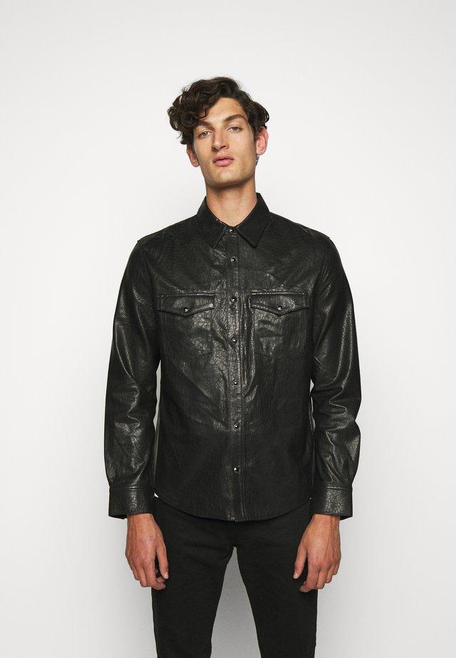 WRIGHT - Veste en cuir - black