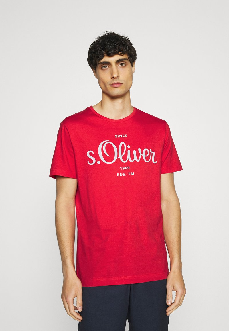 s.Oliver - Print T-shirt - red
