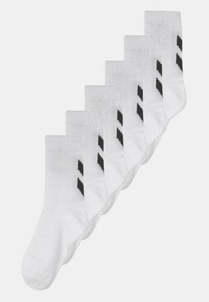 MAKE MY DAY 6 PACK UNISEX - Sports socks - bright white