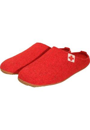 PANTOFFEL FILZ - T-bar sandals - rot