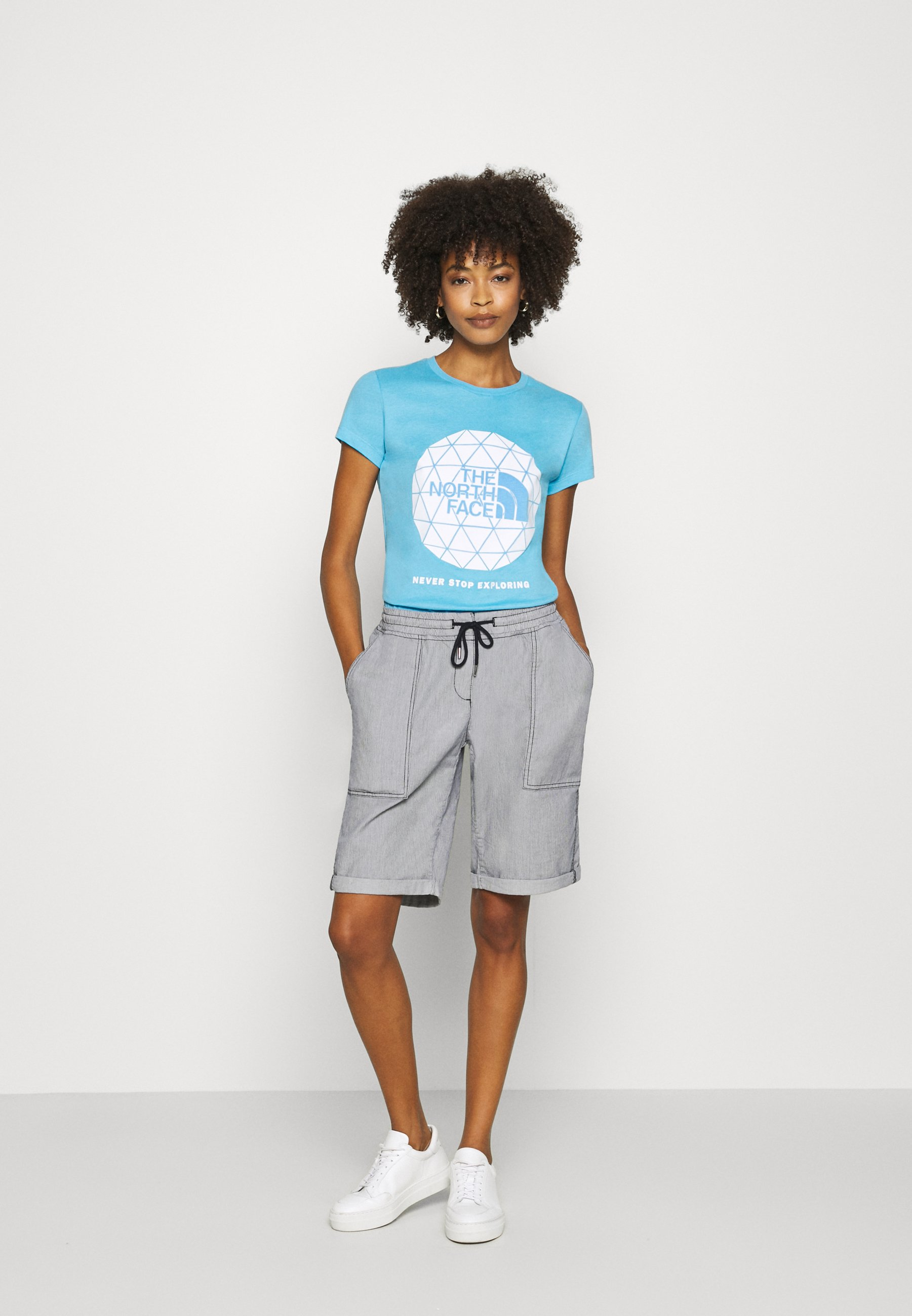 The North Face GEODOME TEE - T-shirts med print - ethereal blue