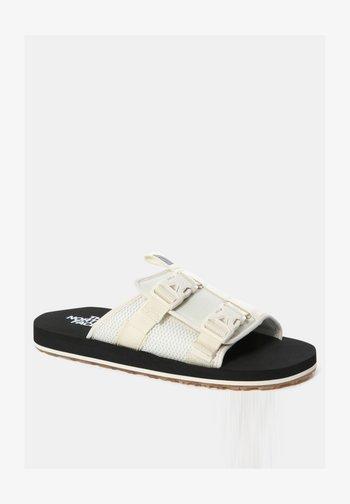 M EQBC SLIDE - Walking sandals - vintage white/tnf black
