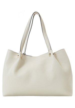LEDERTASCHE MIT ZIERSTIFTEN 01788709 - Handbag - beige