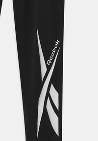 Reebok - LOGO - Legginsy - black, white - 2