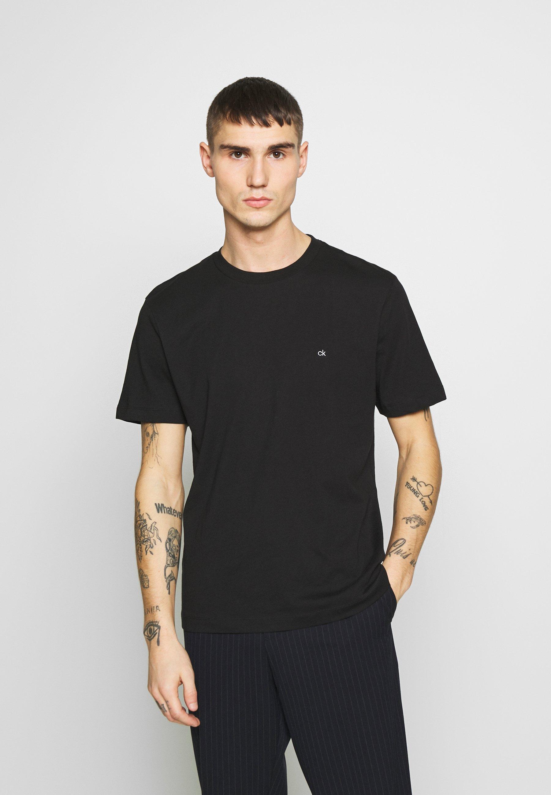 Calvin Klein LOGO 2 PACK - T-shirt basique - black/black